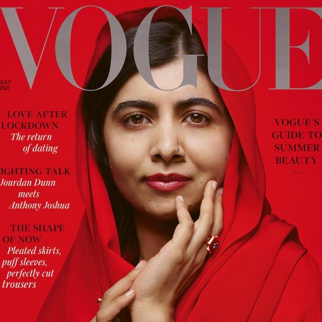 Malala prýðir forsíðuna á Vogue