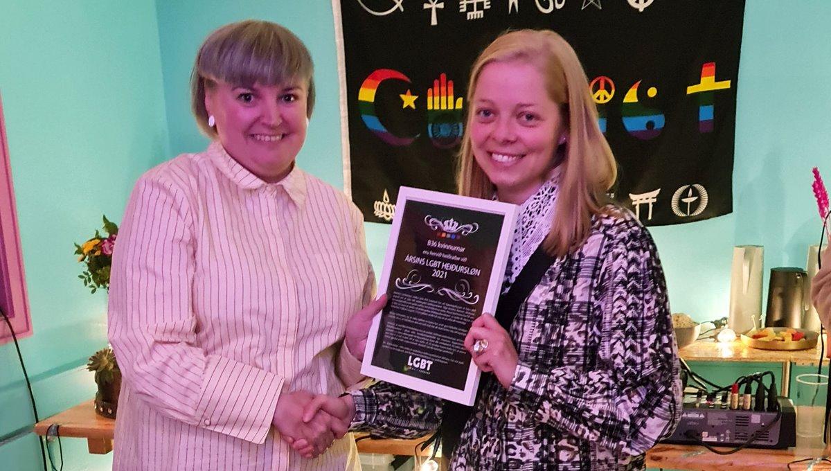 Kvinnur hjá B36 fingu LGBT+ heiðurslønina fyri 2021