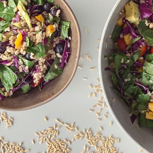 Leskiligt salat við havrarísi
